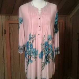 Reborn  Pink and Blue Tunic
